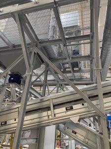 Steel platform, fabrication, structural metalwork, welded beams and panels
