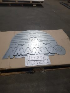 laser cut steel, galvanized steel signs, custom made signage