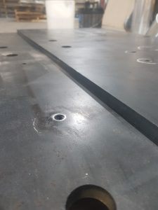 Laser cut steel, threading and tapping steel components