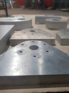 25mm thick aluminium, waterjet cutting, threading and tapping aluminium